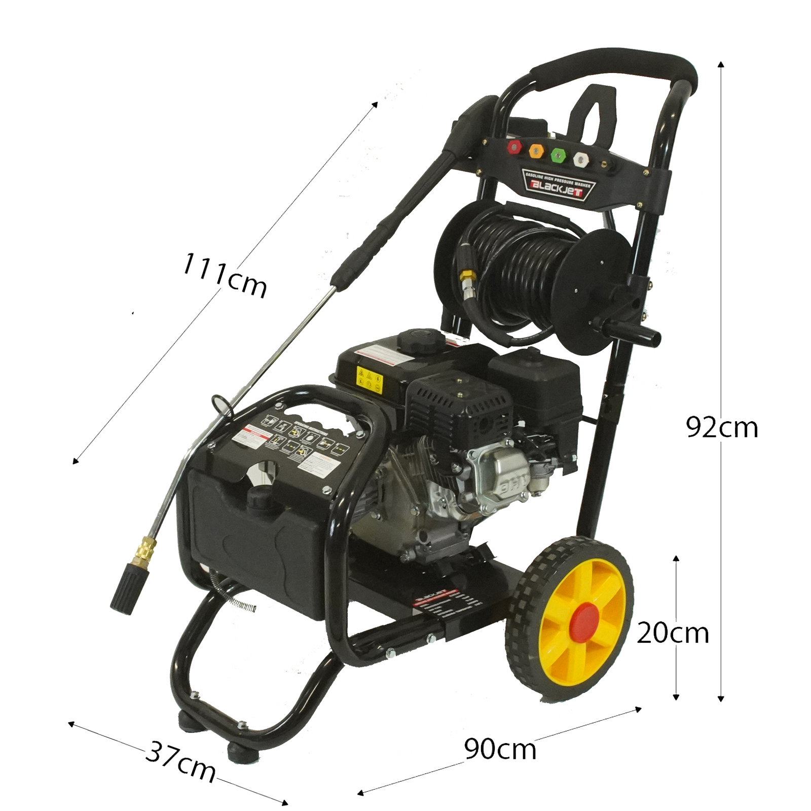 New Black Jet High Pressure Water Washer Cleaner 10 Hp